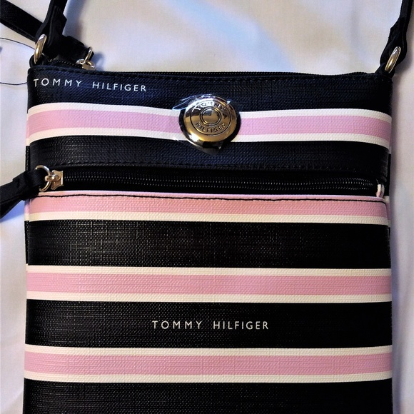 footwear various design outlet store Pink/Black Tommy Hilfiger Crossbody Bag NWT